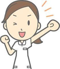 フリーイラスト] 応援する女性看護師 - パブリックドメインQ:著作権 ...
